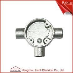 China White Malleable Pipe Fittings 3 Way Junction Box 32mm 40mm For BS4568 GI Conduit supplier