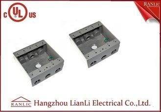 "China 1/2"" 3/4"" Holes Waterproof Conduit Box Aluminum Die Casting UL Listed factory"