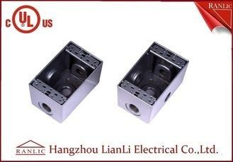 "1/2"" 3/4"" Two Gang Electrical Box Waterproof Terminal Box Powder Coated , UL Listed"