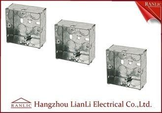 China 75MM*75MM Steel Electrical Gang Box 20m 25mm Holes With Brass Terminal factory