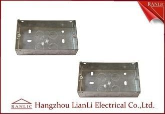 China Custom Outdoor Waterproof Metal Electrical Gang Box Pre Galvanized factory