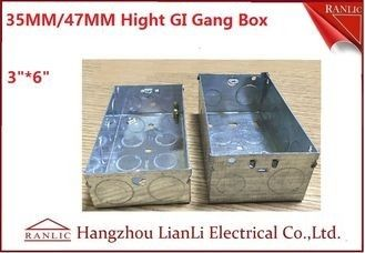 "3""*6"" Metal Electrical Gang Box BS4662 Hot Dip Galvanized Coil With Adjustable Ring"