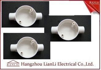 China White Conduit Terminal Box Waterproof PVC Conduit and Fittings Two Way factory